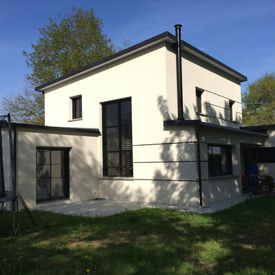 Construction d''une maison individuelle contemporaine à St Trimoël