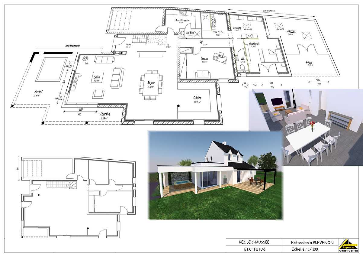 Projet d''extension et Rénovation sur la commune de PLEVENON plaquette
